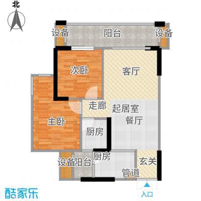 华宇・春江花月春江花月60.06㎡1号房户型