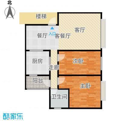 法苑小区户型2室1厅1卫1厨