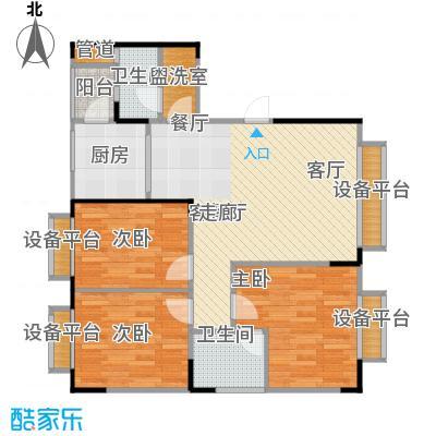 金田花苑户型3室1厅2卫1厨