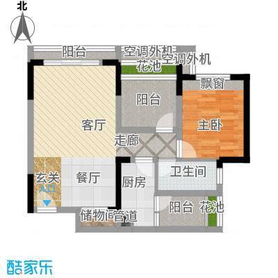 东原锦悦户型1室1厅1卫1厨