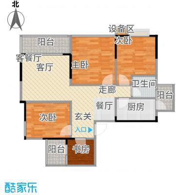 金秋家园户型4室1厅1卫1厨