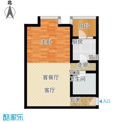 北京上舍65.13㎡一号楼F户型