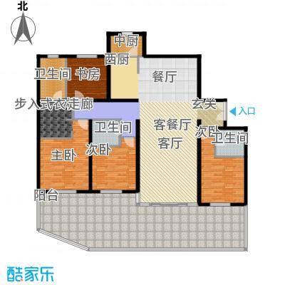 冠城・名敦道冠城园200.85㎡B5-2边户型