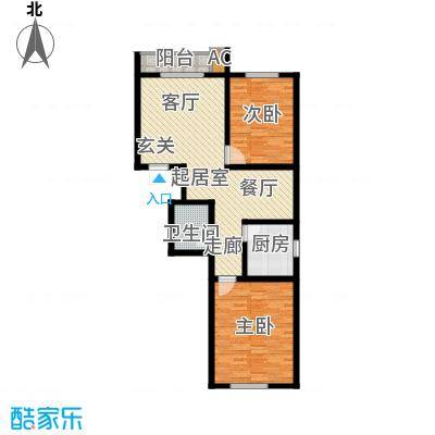 现代幸福城92.00㎡22号楼1-01(3f)户型