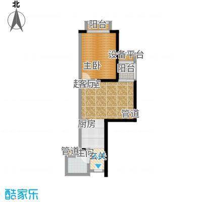 金桥国际公寓56.53㎡户型