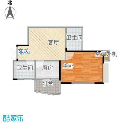 杰信华府广场户型1室1厅2卫1厨