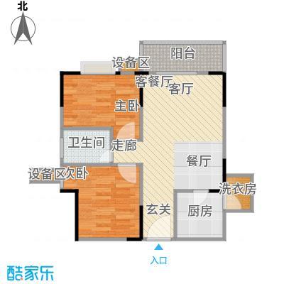 金秋家园户型2室1厅1卫1厨