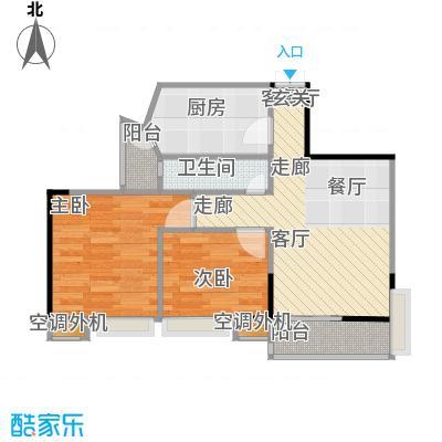 杰信华府广场户型2室1厅1卫1厨