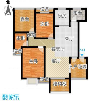 天元吉第城户型3室1厅1厨
