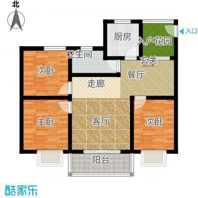 桃源芳居户型3室1厅1卫1厨