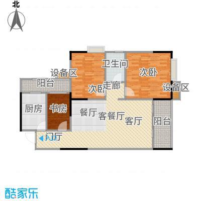 明发尚都国际3号楼B2、3号房户型