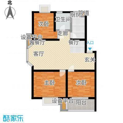 中浩森林湾户型3室1厅1卫1厨