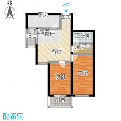 东环居苑83.89㎡8#楼F户型