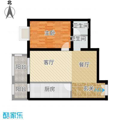 依莲轩二期87.59㎡A6户型