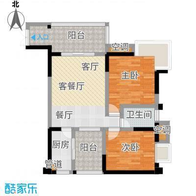 丽水菁苑栖景湾65.07㎡户型