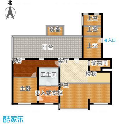 冠城・名敦道冠城园317.35㎡B5-6复式2层户型