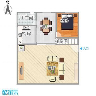 长沙新苑精装复式一楼户型图
