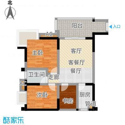丽水菁苑栖景湾68.22㎡户型