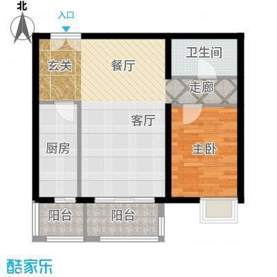 依莲轩二期80.81㎡D2户型