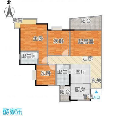 港城凤鸣香山92.84㎡房型户型