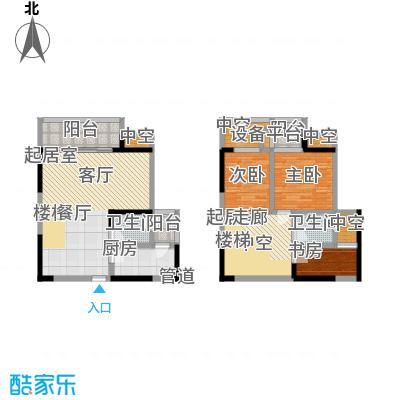 永年・高九领地户型3室2卫1厨