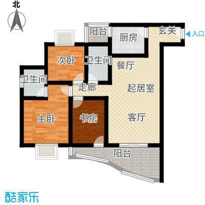 平安家园85.57㎡房型户型