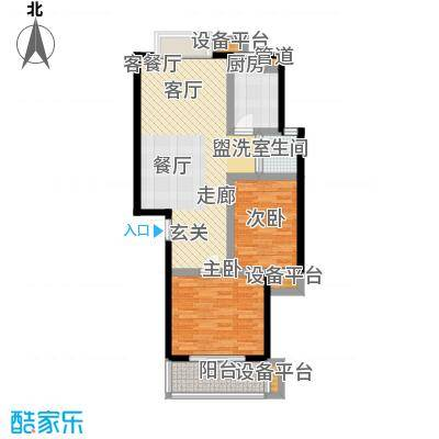 中浩森林湾户型2室1厅1卫1厨