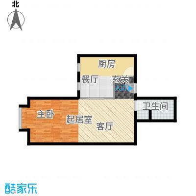 北京上舍74.31㎡一号楼H户型