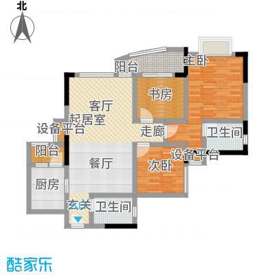 湖榕锦苑87.84㎡-户型