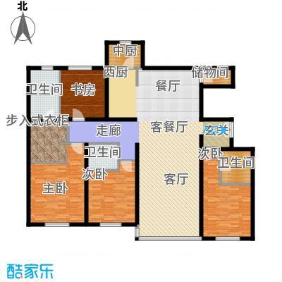 冠城・名敦道冠城园204.31㎡B5-3户型