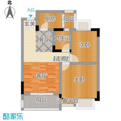 湖榕锦苑61.82㎡-户型