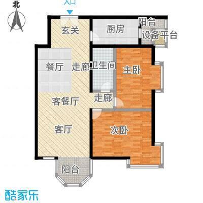 枫桦豪景(尾盘)119.58㎡户型