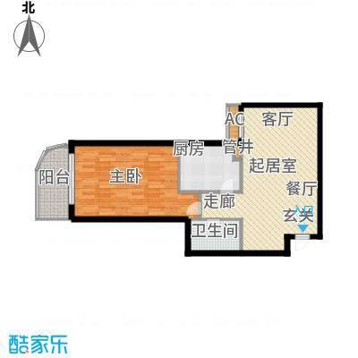 依莲轩(一期)68.88㎡E/F户型