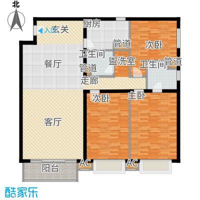 丽水湾畔(尾盘)146.71㎡三居室户型