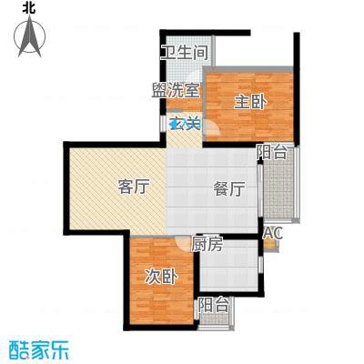 丽水湾畔(尾盘)98.10㎡一居室户型