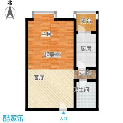 北京上舍61.62㎡一号楼D户型