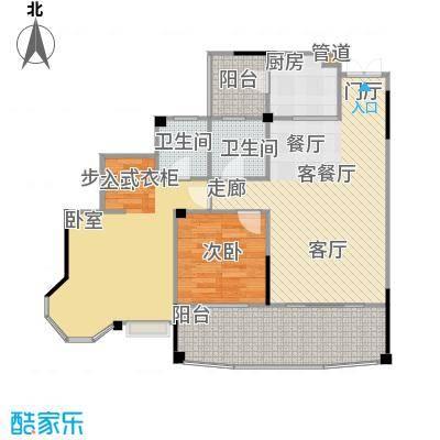 圣豪帝景户型2室1厅2卫1厨