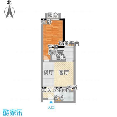 金桥国际公寓户型1室1卫