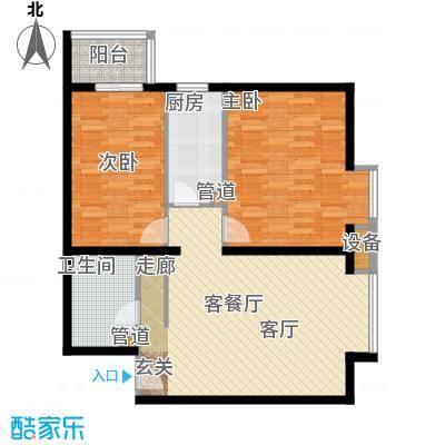北京上舍82.87㎡四号楼G户型