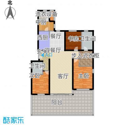 冠城・名敦道冠城园168.52㎡B5-8边户型
