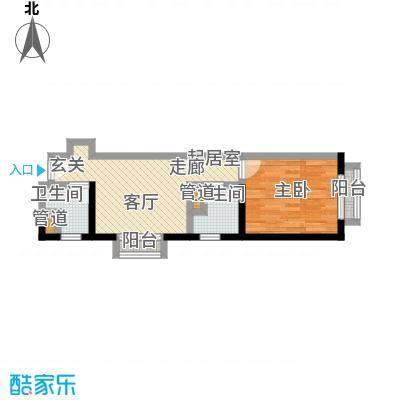 金桥国际公寓户型1室2卫
