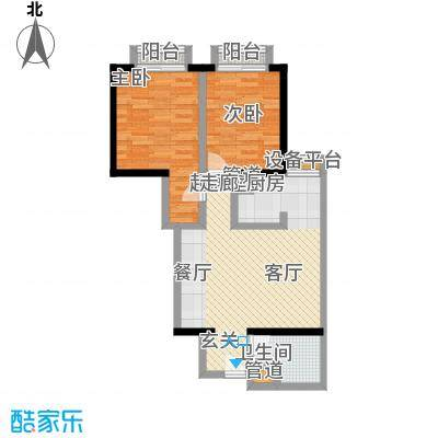 金桥国际公寓户型2室1卫