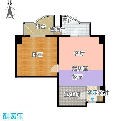 迦南公寓(尾盘)60.63㎡户型