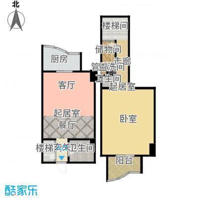 迦南公寓(尾盘)70.34㎡户型