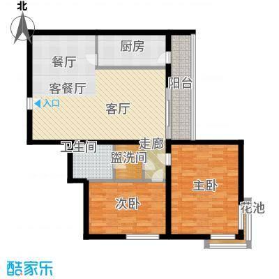 广华轩95.70㎡户型