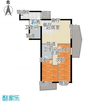 景泰嘉园149.96㎡三居室户型
