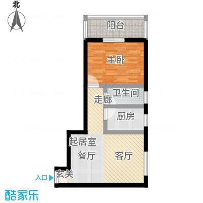 晟丰阁52.83㎡一居室户型