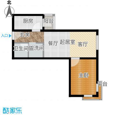 广华轩65.80㎡户型