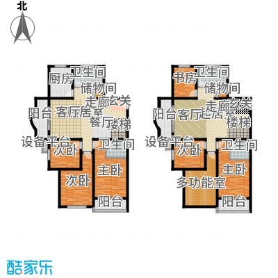 张杨花苑199.00㎡房型户型