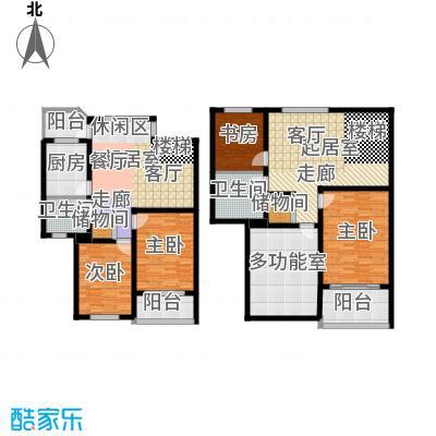 张杨花苑130.00㎡房型户型